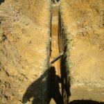 Укладка трубы ливневой канализации 2