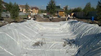 Photo of Укладка пленки для пруда