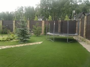 Монтаж искусственного газона
