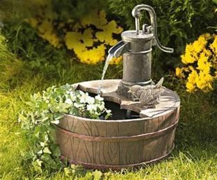 садовый фонтан на даче